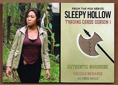 "NICOLE BEHARIE 2015 Cryptozoic Sleepy Hollow Season 1 ""Abbie"" Wardrobe Card #M11"