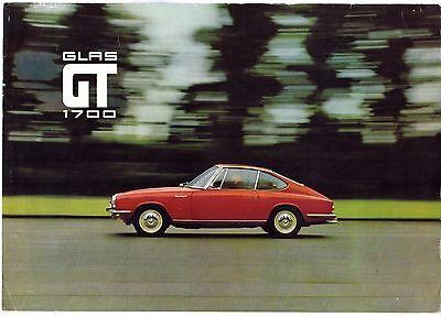 Glas GT 1700 Coupe 1966-67 UK Market Foldout Sales Brochure
