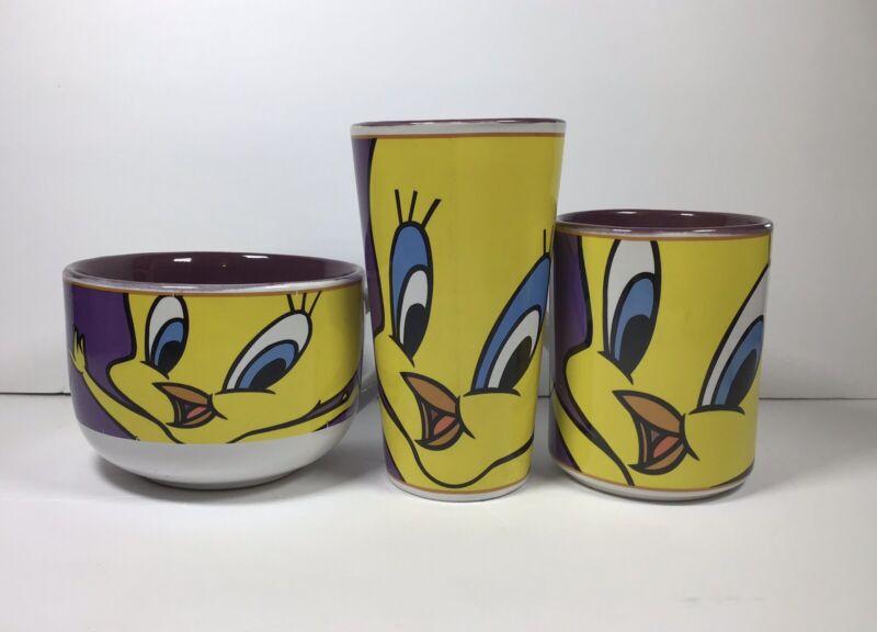 Looney Tunes Warner Bros Tweety Bird 2000/2002 Gibson Coffee soup Milk Mug