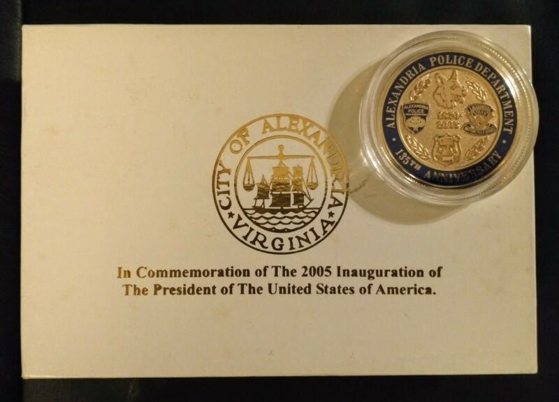City of Alexandria Sheriff 2005 Inauguration Badge, Pin, Coin Comm. Set Obsolete