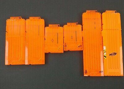 Lot of 6 Nerf N-Strike Elite 18 12 6 Dart Clip Ammo Magazine Cartridge Q5