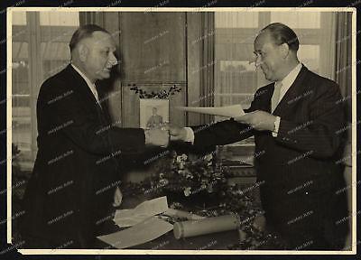 Foto-AK-Benzol-Verband-Vierzigjähriges-B.V.-Jubiläum-Direktor-Jäher-1951-18