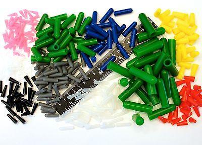 Mega 350pc High Temp Silicone Rubber Plug Cap Kit Powder Coating Paint Masking