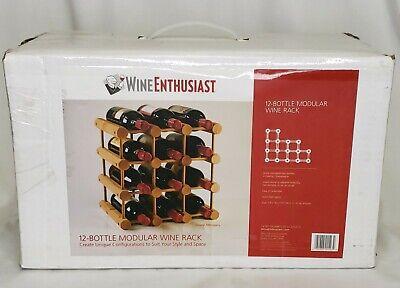 Modular Wooden Wine/Champagne Rack Wood 12 bottle new in box