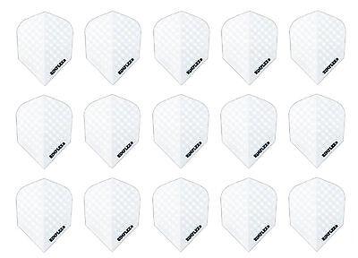 5 New Sets of Harrows Dimplex Standard Dart Flights - White - 15 Flights
