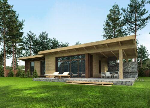 PREFAB TIMBER FRAME KIT ENGINEERED WOOD HOUSE DIY BUILDING CABIN HOME GLULAM GLT