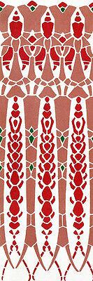 4 X 12 Ceramic Tile Mural Border Art Nouveau Decor Backsplash Bath 503