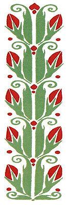 4 X 12 Ceramic Tile Mural Border Art Nouveau Decor Backsplash Bath 501