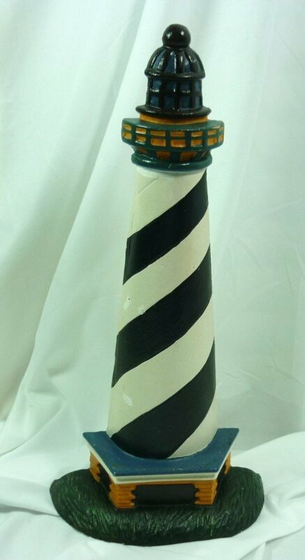 """Painted Cast Iron Lighthouse Door Stopper 15"""" Nautical 20E005"""