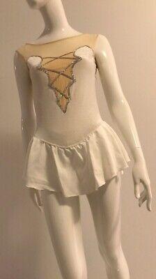 80s Dresses   Casual to Party Dresses Vintage 1980's Figure Skating Dance Lycra Leotard $25.68 AT vintagedancer.com