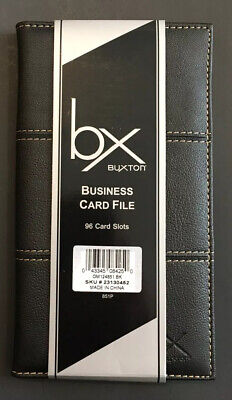 New Buxton Business Card File 96 Card Slots