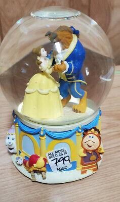Disney Snow globe Beauty and the Beast Musical Music