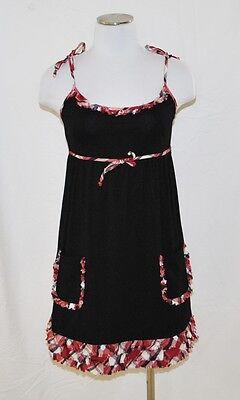 - CHIC Black Plaid Baby Doll Empire Polly Pocket Ruffle Top Shirt Tunic Dress S