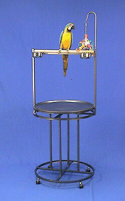 Mauna Loa Lookout Bird Wrought Iron Playstand Parrot Gym ...