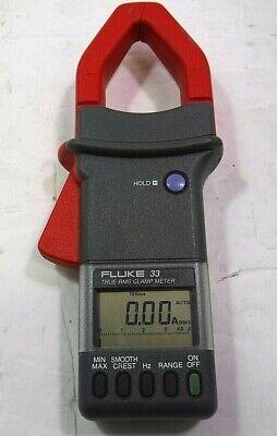 Fluke 33 True Rms Amp Clamp Meter-free Shipping-