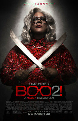 BOO 2 A MADEA HALLOWEEN MOVIE POSTER 2 Sided ORIGINAL FINAL 27x40 TYLER PERRY (Boo Halloween Movie)
