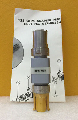 Tektronix 017-053 50 To 125 Ohm 1 W Gr-874 To Gr-874 Resistive Adapter. New