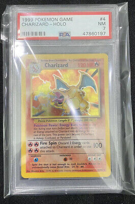 1999 Charizard Holo Base Set 4/102 PSA 7 Pokemon