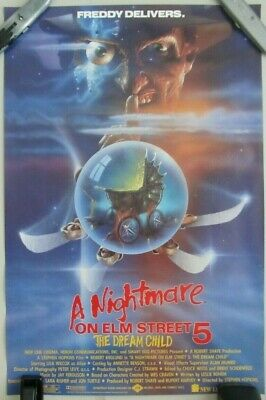 NIGHTMARE ON ELM STREET 5: DREAM CHILD ORIG ROLLED MOVIE POSTER MINI SHEET 16X25