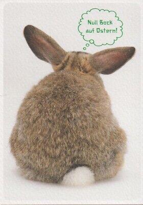 Postcard: Hase hat null Bock auf Ostern - Strukturkarton