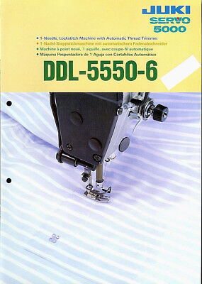 Juki DDL-5550-6 Industrial Sewing Machine Rare Original Factory Dealer BROCHURE for sale  Shipping to Canada