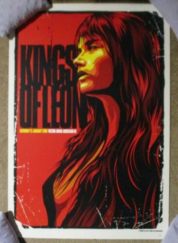 KINGS OF LEON concert gig tour poster print AUCKLAND 1-12-08 2008 Ken Taylor