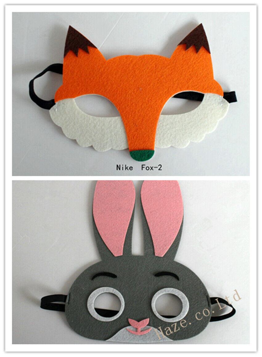 Halloween Zootopia Rabbit Judy Hopps Fox Nick Wilde Mask for Kids ...