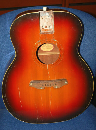 Vintage RARE 1965 Mosrite Acoustic Guitar Body Sunburst Serenader Luthier Parts