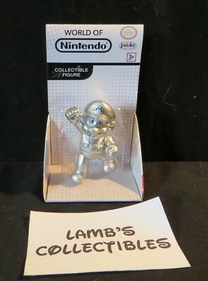 Metal Mario World Of Nintendo White Box 2 5  Figure Jakks Pacific Toy Figure