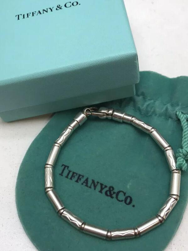 "Tiffany & Co. Aztec Zig Zag Rare 7.5"" Sterling Silver Bead Bracelet!!"