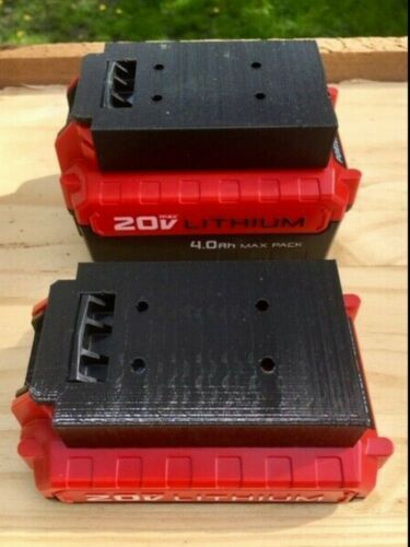 **2 Pack** Porter Cable 20V Battery Holder Mount Wall/Under