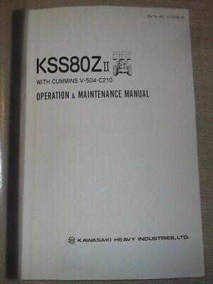 Kawasaki Kss80z-ii Wheel Loader Operator Operation Maintenance Manual Book