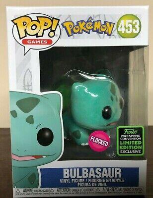 Bulbasaur Funko Pop Pokemon 453 Flocked 2020 Spring Convention Exclusive