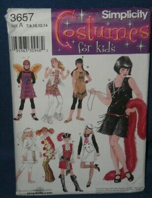 Halloween Costumes For Hippies (Simplicity Costumes for Kids Pattern 3657 Hippie Angel Flapper Halloween)