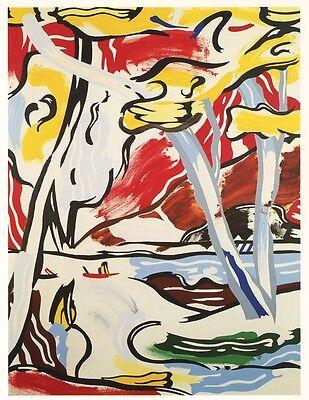 """Roy Lichtenstein """"River Through the Woods"""" 1984"""