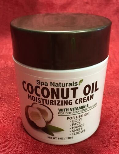 6 Oz Coconut Oil Moisturizing Cream Vitamin E For Dry Sensit