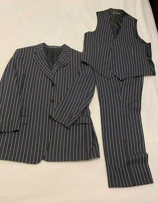 Versace Classic  Men's Black Suit 56R Made in Spain Originally