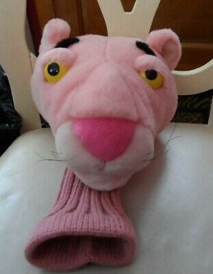 Pink Panther Plush Golf Club Head Cover w/ knit sock bottom 16