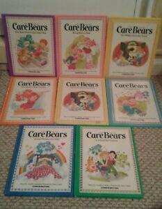 9 Vintage Care Bears Hardback 1984 Parker Brothers Books