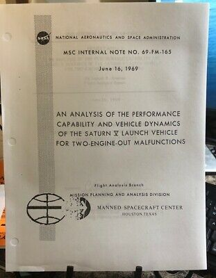 RARE NASA MANUAL! Saturn V 2 engines out analysis