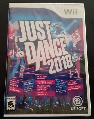Brand New Factory Sealed Just Dance 2018 Nintendo Wii 2017 FREE FAST SHIPPING