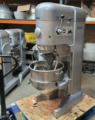 Hobart M802 80 Qt Mixer - 3 Ph 208v - Stainless Bowl - Hook - Paddle - Whisk