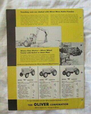Oliver Product Line Brochure Ad Tractor 66 77 88 Oc-18 Oc-3 Loader Mower