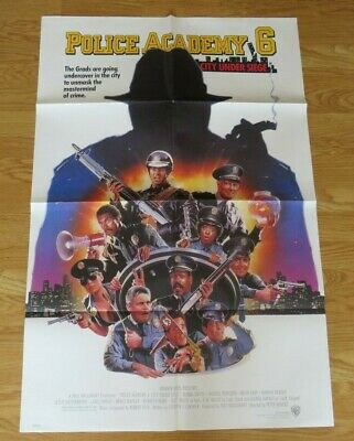 POLICE ACADEMY 6 CITY UNDER SEIGE ORIGINAL 1989 US ONE SHEET CINEMA MOVIE POSTER (City Under Seige)