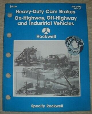 Rockwell Heavy Duty Cam Brakes Onoff Highway Parts Manual Book Catalog