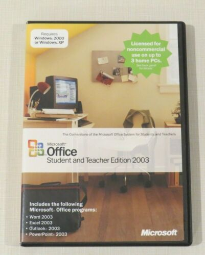 Microsoft Office Student and Teacher Edition 2003 - up to 3 PCs with key