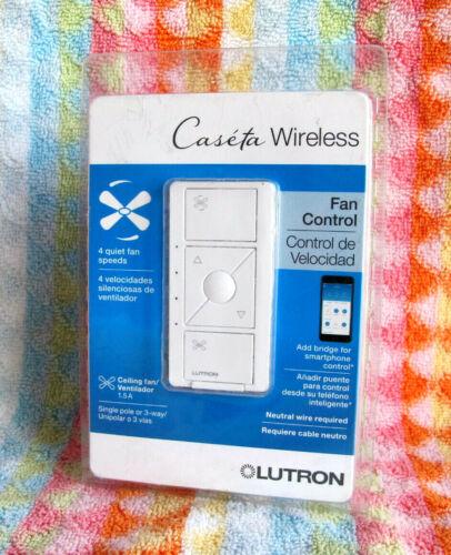 Lutron PD-FSQN-WH Caseta Wireless Smart Fan Speed Control Single Pole