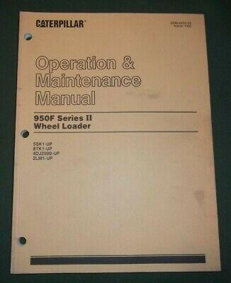 Cat Caterpillar 950f Series Ii Wheel Loader Operation Maintenance Manual Book