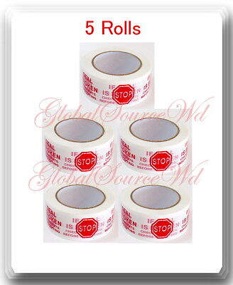 5 Rolls 2 X 110 Yds Security Seal Packing Tape If Seal Is Broken