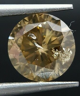 1.70 Carat Natural Brown Champagne Round Diamond Loose For Ring Best Price